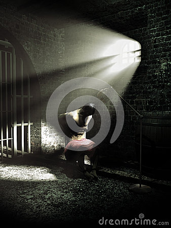 Free Under Torture Royalty Free Stock Photos - 46337378