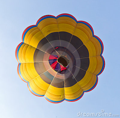 Under view of hot air balloon