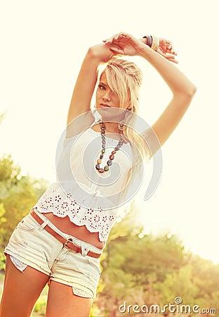 Underbara blonda kvinnor
