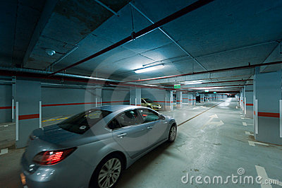 Underground car parking movement