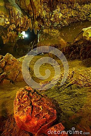 Underground caves