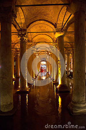 Underground Cistern, Travel to Istanbul, Turkey