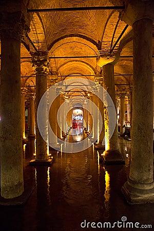 Underground Cistern, Travel to Istanbul, Turkey