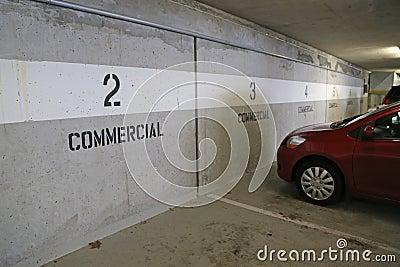 Underground commercial parking