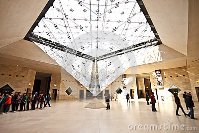 Underground entrance of the Louvre Museum 1 Editorial Photo
