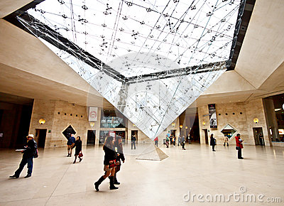 Underground entrance of the Louvre Museum 2 Editorial Stock Photo