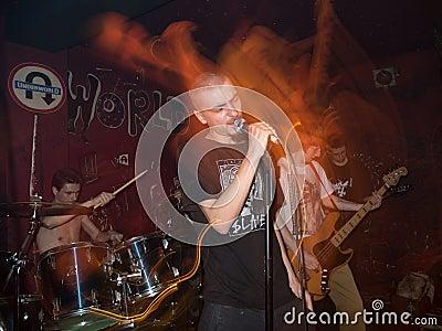 Underground metal concert Editorial Image