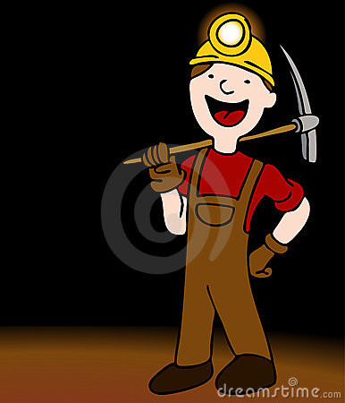 Underground Miner Cartoon Character