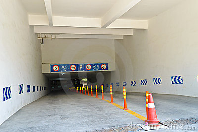 Underground parking entrance