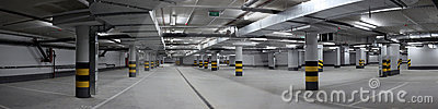 Underground parking panorama