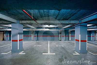 Underground parking view