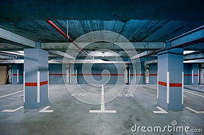Underground parking view