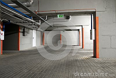 The underground parking