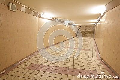 Underground passage at a metro railway station