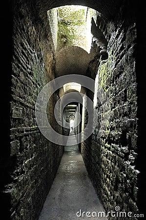 Underground Roman baths