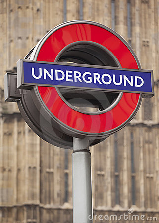 Underground Sign Editorial Photo