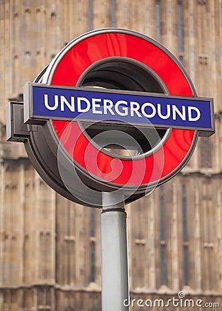 Underground Sign Editorial Photo