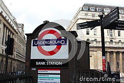Underground station Editorial Photography