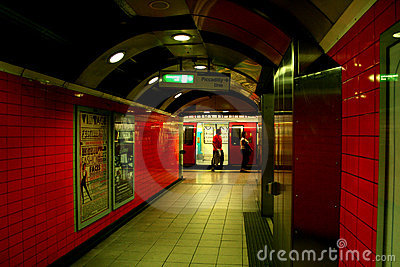 Underground station in London Editorial Photography