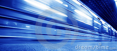 Underground train dynamic motion