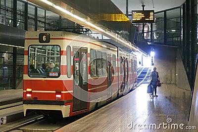 Underground Tram Editorial Image