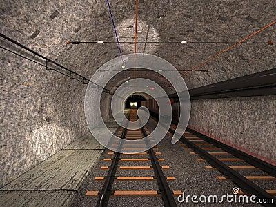 Underground trolley haulage