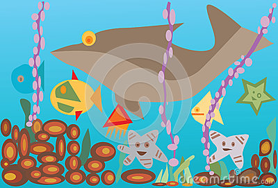 Undersea With Fishes Stock Image - Image: 27878271