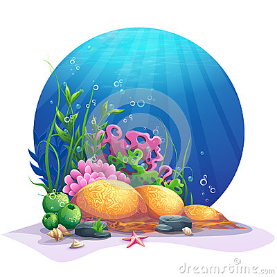 Free Undersea Flora On The Sandy Bottom Of The Ocean Stock Image - 69160131