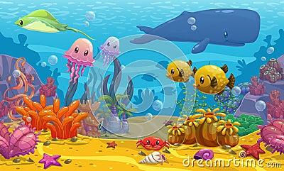 Undersea Landscape Stock Illustration - Image: 57701592