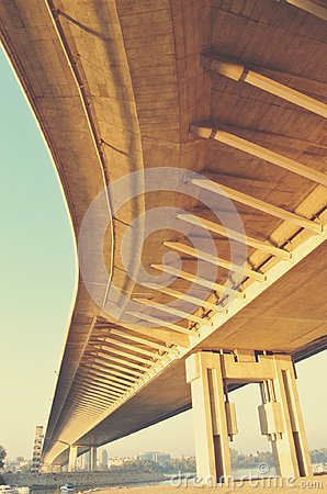 Free Underside Of A Yellow Winding Bridge, Retro Style Stock Images - 104555344