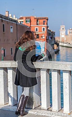 Undersökande Venedig Redaktionell Arkivfoto