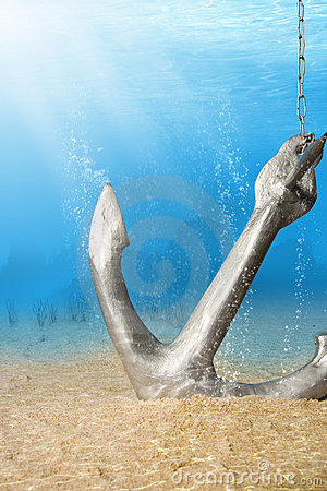 Free Underwater Anchor Royalty Free Stock Photos - 13631058