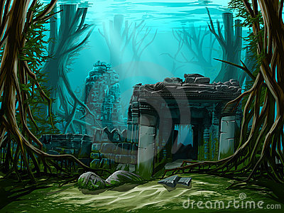 Underwater ancient town