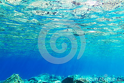 Underwater background of Aegean Sea