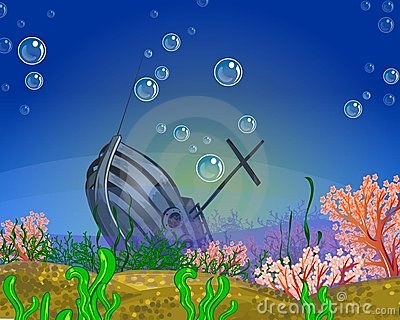 Underwater Shipwreck Stock Illustrations – 154 Underwater ...