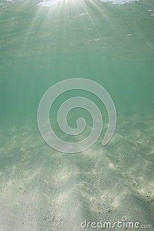 Underwater Beach Sunrays half sand