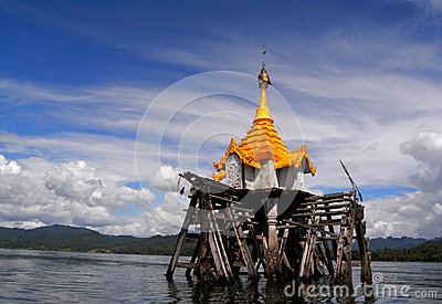 The underwater Buddhist church Editorial Stock Image