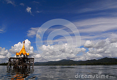 The underwater Buddhist church Editorial Stock Photo