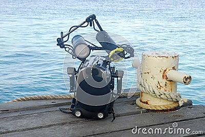 Underwater camera housing and bollard