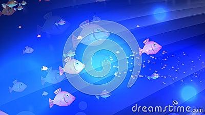 Underwater Fish Animation stock footage. Video of cartoon ...