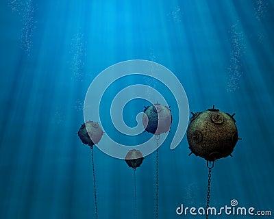 Underwater mine field