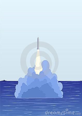 The underwater missile launch