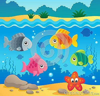Underwater ocean fauna theme 2