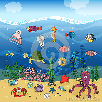 Free Underwater Ocean Life Under The Waves Royalty Free Stock Photography - 41011617