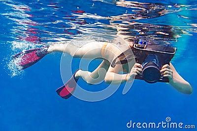 Underwater photographer in Andaman sea