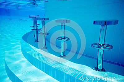 Underwater Seats In Pool Royalty Free Stock Photos Image