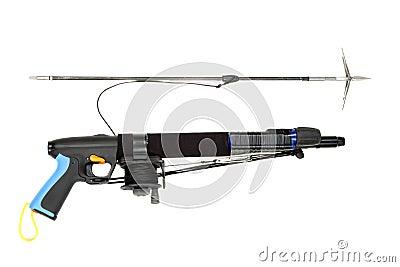 Underwater speargun.