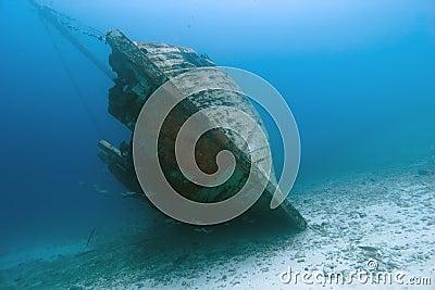 Underwater Wooden Caribbean Shipwreck