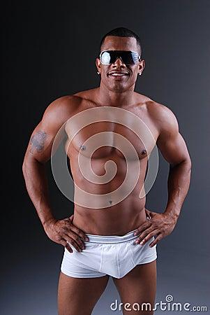Underwear model.