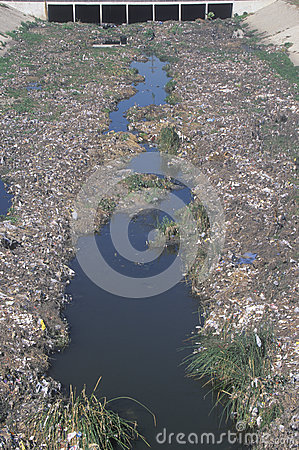 An undesignated urban dump Editorial Stock Image